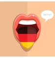 german language concept vector image