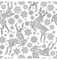 hand drawn outline festive seamless pattern with vector image vector image