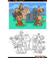 happy monkeys characters group color book vector image vector image