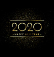 happy new year glitter gold fireworks golden vector image