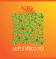 happy saint patrick s day scatter shamrock card vector image vector image