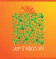 Happy saint patrick s day scatter shamrock card