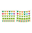 happy st patricks day party card with bunting vector image