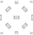 ice hockey rink pattern seamless black vector image vector image