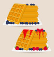 icon logo for various sweet waffles vector image vector image