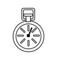 isolated sport chronometer vector image vector image