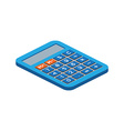 Isometric calculator on white background For web vector image
