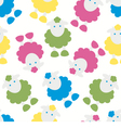 Kids pattern with lambs vector image