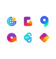 logo or icon of letter g for global blockchain vector image vector image