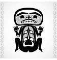 Modern stylization of Canadian native art a man vector image