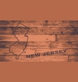new jersey map brand vector image vector image