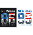 new york brooklyn number 86 typography design vector image