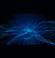 particles technology blue landscape digital vector image