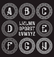 patterned monogram kit white letters and vector image