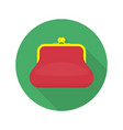 red purse icon vector image vector image