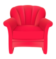 red velvet chair vector image vector image