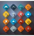 Retro Colorful Abstract Arrows Set vector image vector image