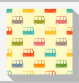 Retro seamless pattern collection with car 3 vector image