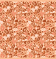 seamless leopard wild nature pattern vector image vector image