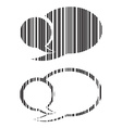 set of blank speech bubbles barcode vector image vector image