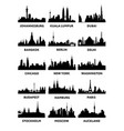 silhouette of the city skyline vector image vector image