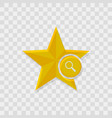 star icon magnifier icon vector image