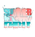 summer party typography poster with beach vector image