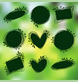 tags set for inscriptions labels for organic vector image vector image