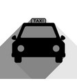 taxi sign black icon with vector image vector image