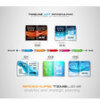 Timeline with Infographics design elements for