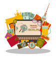 travel planning to berlin flat concept vector image vector image