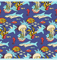 underwater sea life seamless pattern vector image vector image