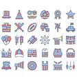 united state independence day icon set 2 omission vector image vector image