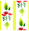 watercolored floral seamless decoration vector image vector image