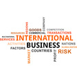 word cloud international business vector image vector image