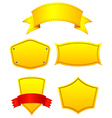 Yellow labels vector image