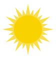 Yellow Summer Sun Shining vector image vector image