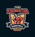 youngster basketball club in professional modern vector image vector image