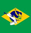 Capoeira fighter vector image