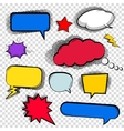 Set of bubbles cloud talk different shapes in vector image