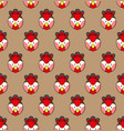 rooster seamless on brown background vector image