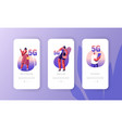 5g network wireless technology mobile app page vector image vector image