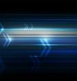 abstract motion with arrows dark blue background vector image