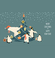 banner for christmas and new year vector image vector image