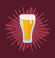 beer glass beverage icon vector image