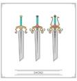 Bevelled Fantasy Sword vector image vector image