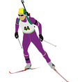 biathlon vector image vector image