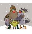 birds happy family vector image vector image
