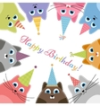Birthday card with cats vector image vector image