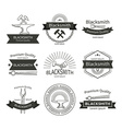 Blacksmith labels set vector image vector image